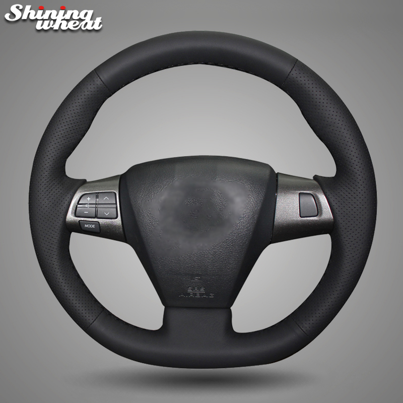 Shining wheat Genuine Leather Car Steering Wheel Cover for Toyota Corolla 2011 2012 2013 RAV4 2011 2012
