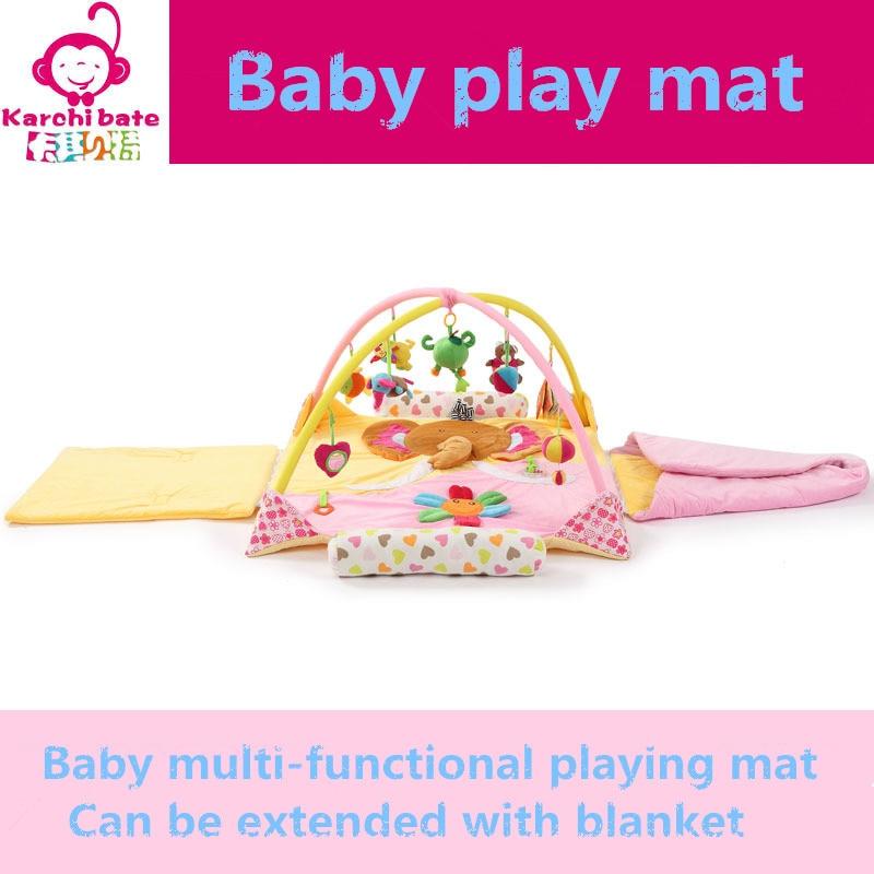 Éléphant ours fleur musique doux bébé jouer tapis couverture Pad jumeau Fitness cadre éducatif bébé jouets escalade ramper bébé Gym