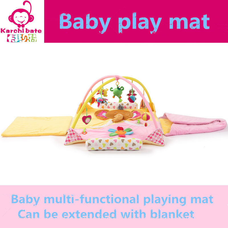 Elephant bear flower Music Soft baby Play mat Blanket Pad twin Fitness Frame Educational Baby Toys Climb Crawling Baby Gym цена 2017