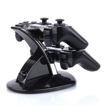 Durable PVC Material Dual USB Charging Dock Station Stand For Two PS3 Controller For Playstaion 3 Great Charger(China)