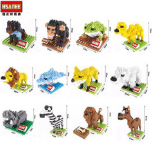 HSANHE Animal World blocks ego legoe star wars duplo lepin toy stickers playmobil castle starwars orbeez figure doll car brick