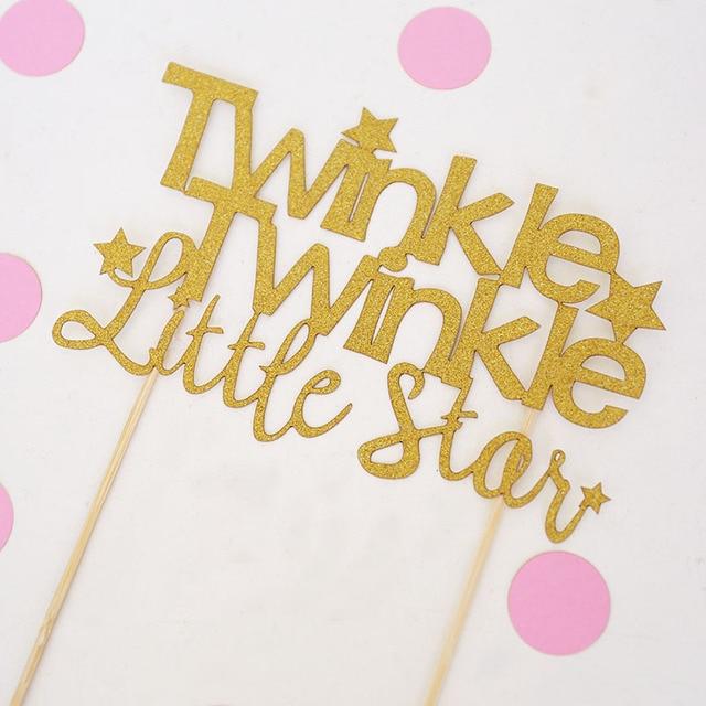 Custom your size,Twinkle Twinkle Cake Topper,glitter Centerpiece ...