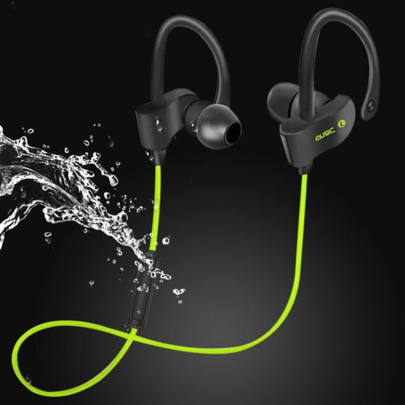 NDJU 56S Wireless Bluetooth Earphone Bass Sports Sweatproof IPX7 Earbuds Headset with Mic Neckband Earphones for iPhone xiaomi new design earphone bluetooth headset deep bass wireless earbuds magnetic switch with mic for huawei honor 5x