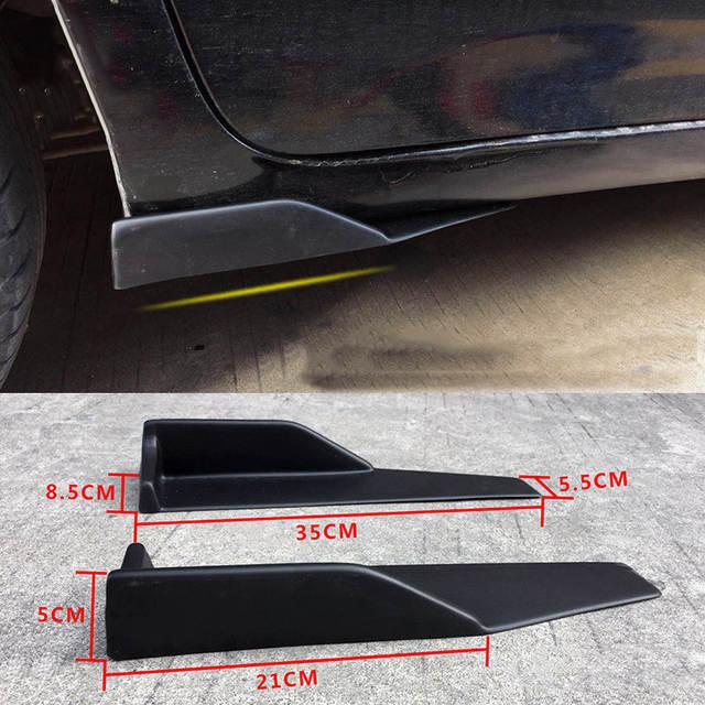 35cm Universale Auto Lato Gonne Laterali Rocker Splitter Winglet Canard Diffusore Carbonio