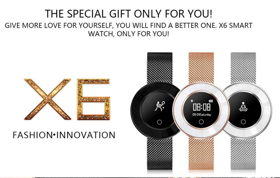 YKSO IP68 Waterproof Smart Bracelet Pedometer X6 Fitness bracelet Sleep Heart Rate Monitor Smart Bracelet (3)
