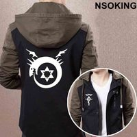 New Spring Autumn Fullmetal Alchemist Hoodie Anime Coat Men zipper Jacket