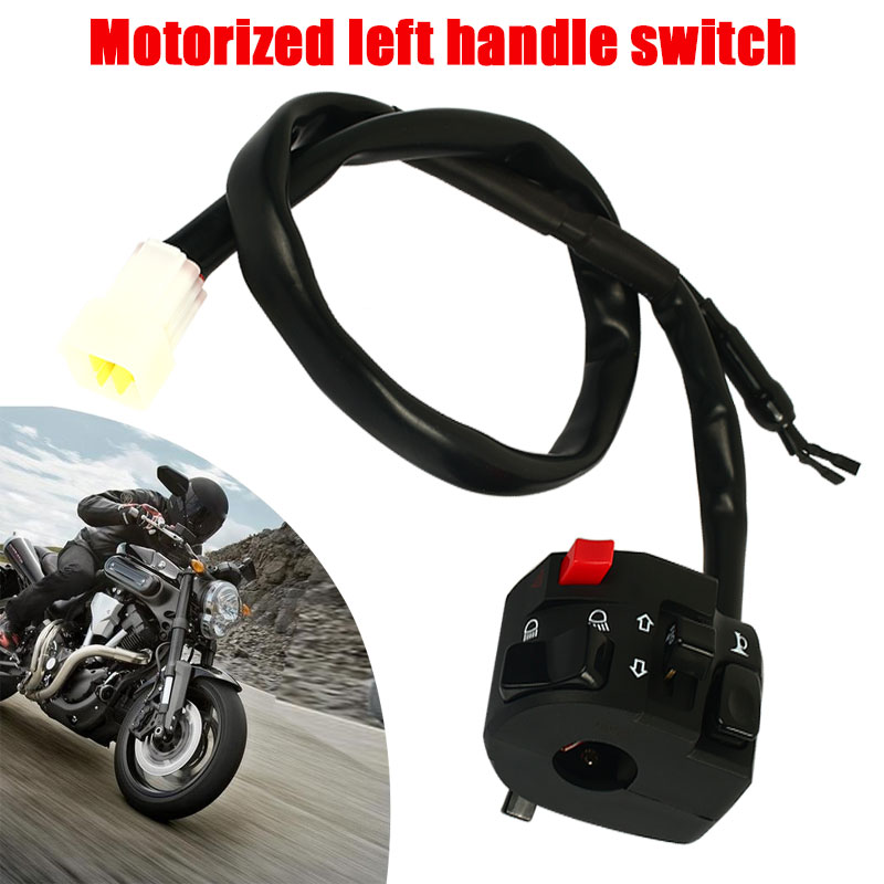 Vehemo Motorcycle Switch Spot Light Handlebar Switch Replacement Parts Lights Switch for ATV Motorcycle Accessories Fog Light