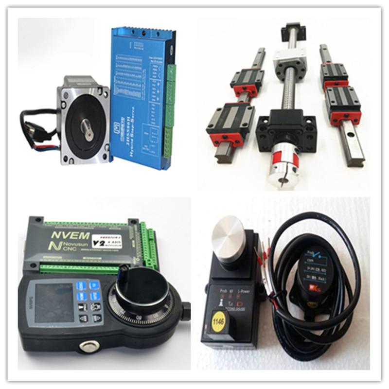 cnc-set-linear-rails-ball-screws-sfu2005-9sets-motor-2-mpghandle-wheel-2-pc-nvem-controller-bellow-2-pcs-sensor