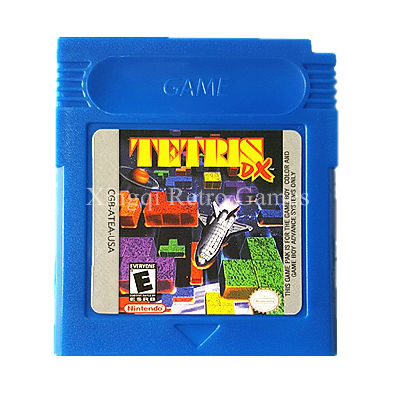 Nintendo GBC Game Tetris DX Cartucho de Consola de Videojuegos Tarjeta de Inglés