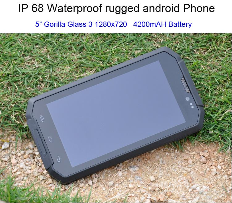 Original i8 Waterproof phone cell phone Android Rugged Smartphone IP68 Shockproof Quad Core 5 0 HD