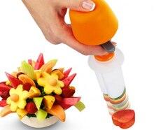 Accesorios de Cocina Herramientas de Cocina creativa De Plástico Forma De La Fruta Cortador Decorador de Alimentos Vegetales Slicer Cortador de la Fruta