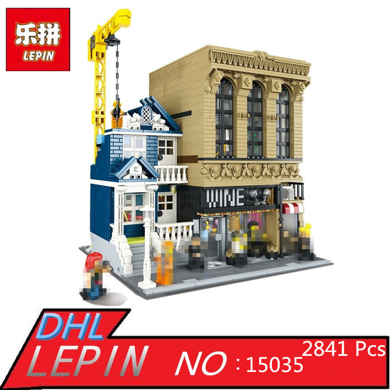 Lepin 15035 The Bars and Financial Companies 2841 Pcs Mini Bricks Set Sale Creative MOC Series Building Blocks Toys For Children брюки tutta mama брюки