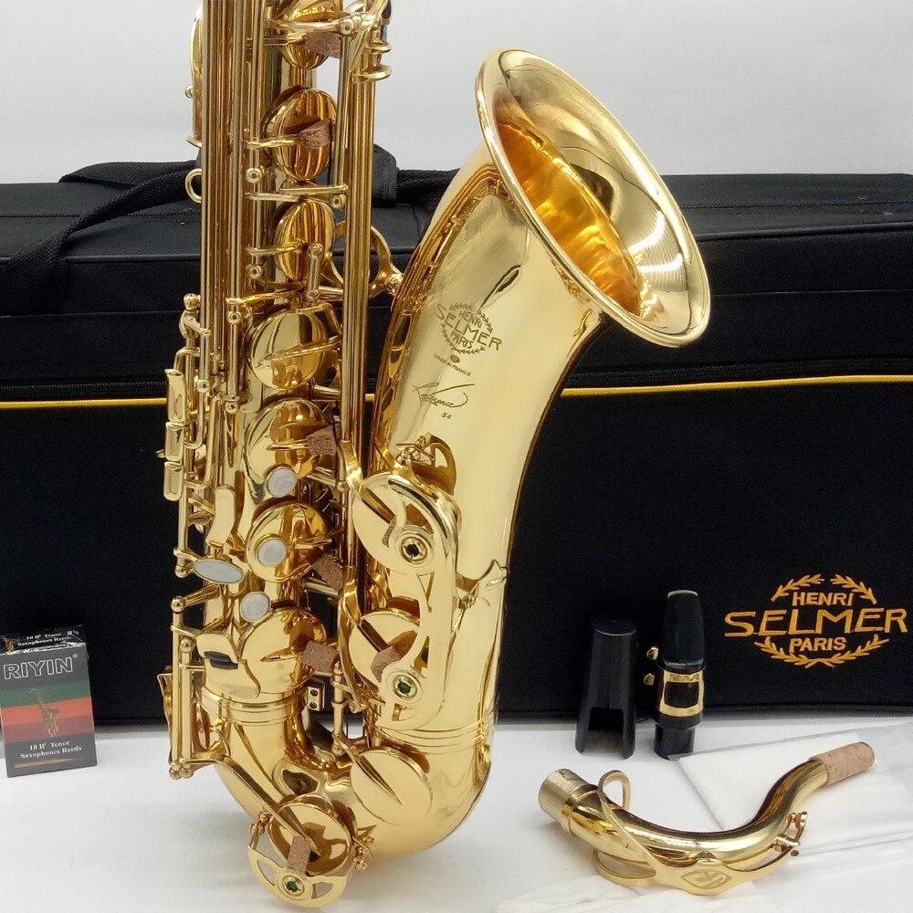 Marque Nouveau Français Ténor Saxophone Référence 54 Laque D'or Sax Ténor Instruments de Musique Professionnel R54 Inclus Cas