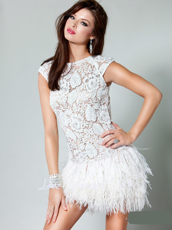 Online Buy Wholesale feather dresses short from China feather ...