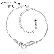A036-B // Promotion Factory Price 925 jewelry silver plated popular anklets Chain,wholesale fashion Foot Chain