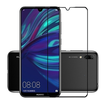 75 Pcs/Lot Tempered Glass Full Cover Screen Protector Protective Film for Huawei Y7 Prime 2019/Y7 Pro 2019/Enjoy 9/Y7 2019