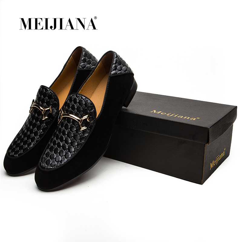 MEIJIANA Luxury Brand Alligator Fashion Casual Men Shoes Genuine Leather Black Slip-on Men Loafers Dress Flats for Driving Party loafers genuine leather slip on spring driving black alligator men casual brown shoes tan real deluxe hot sale autumn stylish