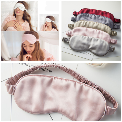 wholesale 3D Sleeping Aid Eye Mask Cover Silk Blinder Shield Comfort Wink