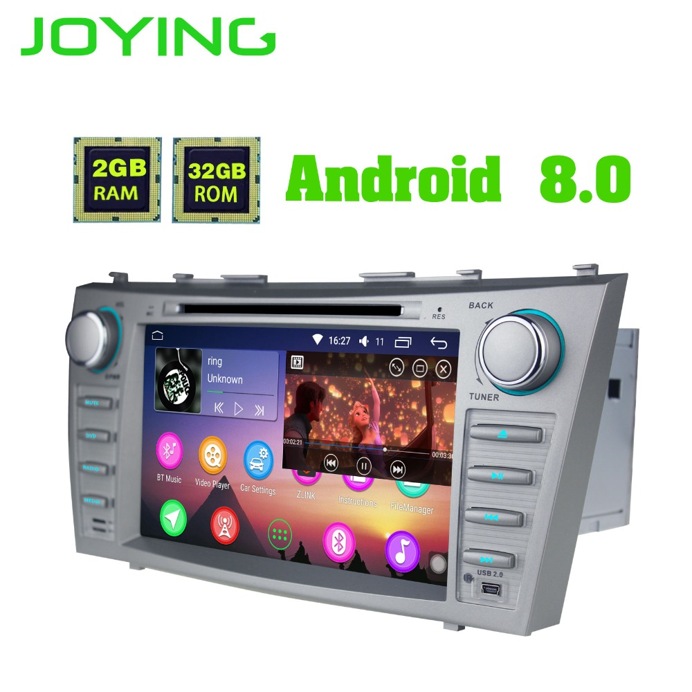 8Joying Double 2 Din Android Car Radio Stereo Tape Recorder For Toyota Camry Head unit GPS Navigation Player With DVD Player