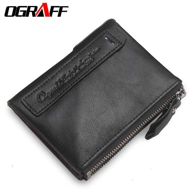 OGRAFF Women Wallet Female Genuine Leather Purse Credit Card Holder Dollar Wallet Men Small Women Wallet Coin Purse Lady Wallet women genuine real leather short wallet zip around purse credit card holder coin change bag with mirror fashion lady id window