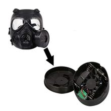 Airsoft Double Gas Filter Masker Aksesoris CS Paintball Militer Taktis Army Keringat Wajah Penjaga Masker(China)