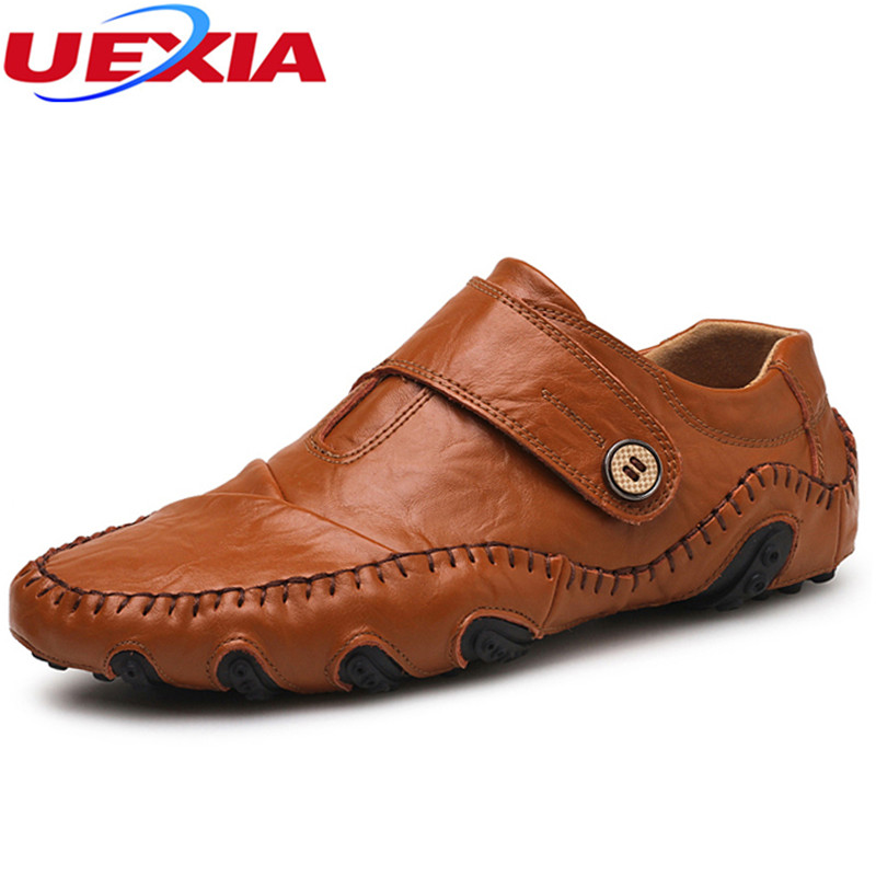Split Soft Leather Flats Handmade Quality Casual Loafers Moccasin for Men Driving Working Daily Men Shoes Slip on Plus Size 47 men s genuine leather casual shoes handmade loafers for male men waterproof flat driving shoes flats