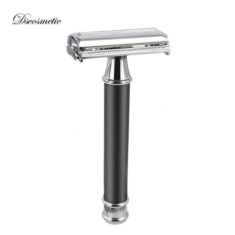 dscosmetic classic shaving razor double edge blade safety razor barber razor mens shave razor razors for shaving men double edge razor bright brass blade replaceable chrome manual classic safety razor