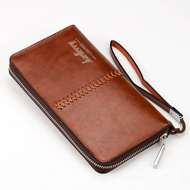 Men Wallet Luxury Pu Leather Men's Clutch Wallets Handy Bags Long Zipper Vintage Purses Large Capacity Purse Brand Male Wallets men long wallet luxury brand first layer of leather genuine leather zipper handbag large capacity hand vintage wallets purse
