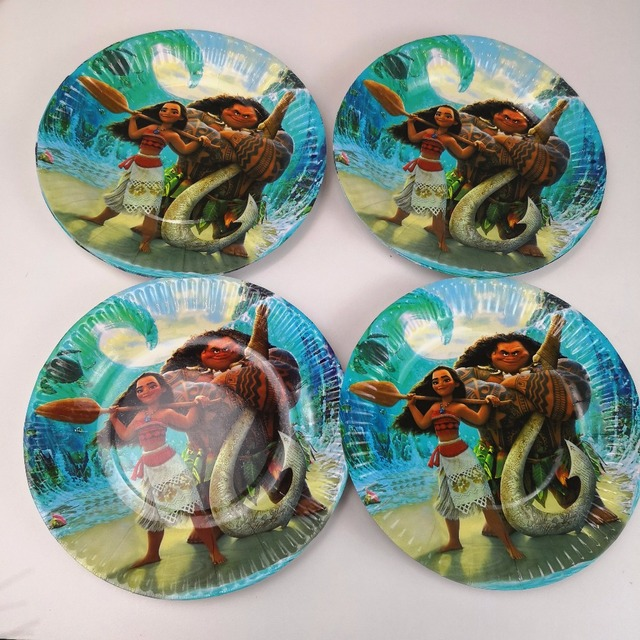 10pcs Ocean Moana Disposable Paper Plate Kid Boy Birthday Party supplies Cartoon Theme 7inch Printing Round & 10pcs Ocean Moana Disposable Paper Plate Kid Boy Birthday Party ...