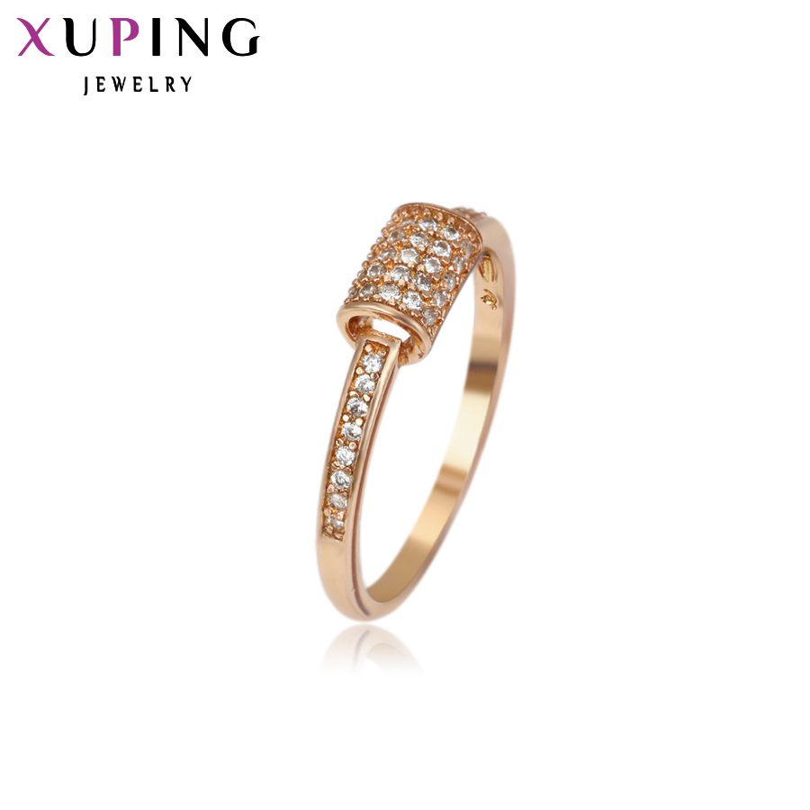 Xuping Fashion Ring Special Design Rings Women High Quality Gold Color Plated Synthetic CZ Jewelry Charm Christmas Gift 12258