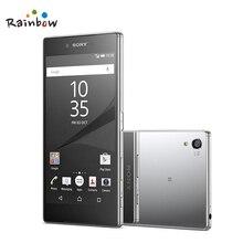 Orijinal Sony Xperia Z5 Prim E6853 Unlocked Cep Telefonu GSM 4G LTE Android Octa Çekirdek 3G RAM 32G ROM Ile Parmak Izi 5.5 Inç