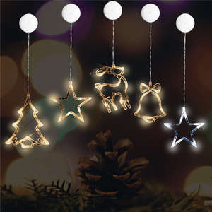 Indoor Outdoor Decorative Lamps For Xmas Year Party Sucker LED Christmas  Light Deer