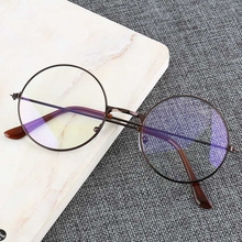 Fashion Anti Blue Ray Computer Glasses Men Women Light eyeglasses frame Metal Round Frames Woman Clear lens