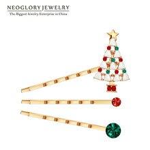 Neoglory стразы, цинковый сплав, счастливый цвет, дерево, прическа для женщин, розовое золото, ювелирное изделие, шарм,, новинка, Рождество, W1