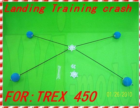 Landing Training crash kit With Yellow Sponge Balls For Rc 450 3D Heli Helicopter Landing train F00389