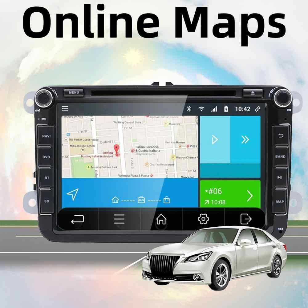 Android 9.0 samochodowe odtwarzacz multimedialny 2 Din SAMOCHODOWY ODTWARZACZ DVD dla Volkswagen/Golf/Polo/Tiguan/Passat/b7/ b6/SEAT/leon/Skoda/Octavia Radio GPS