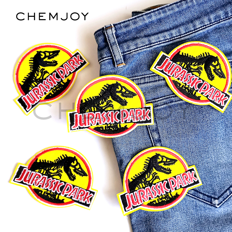 Jurassic World Patch Iron On Embroidered Jurassic Park Applique for  Clothing Sew on Dinosaur Biker Patch Clothes Stickers Badges-in Patches  from Home ... 0057275e1d51