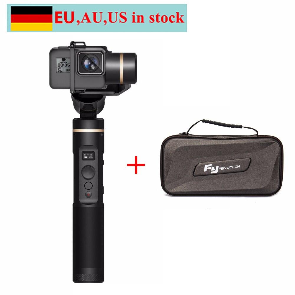 Stabilisateur de cardan à main FeiyuTech Feiyu G6 résistant aux éclaboussures pour caméra d'action Gopro Hero 6/5/4/3/3 + Yi 4 K/AEE Sony RX0