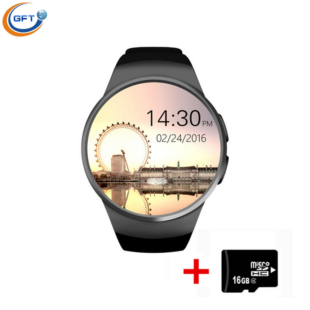 GFT KW18 font b Smartwatch b font Bluetooth Smart Watch Wristwatch for IOS Android Wearable Devices