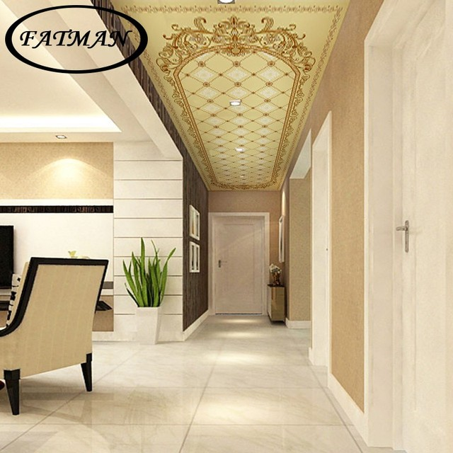 Custom 3D foto papel pintado techo mural decoración pasillo estudio ...