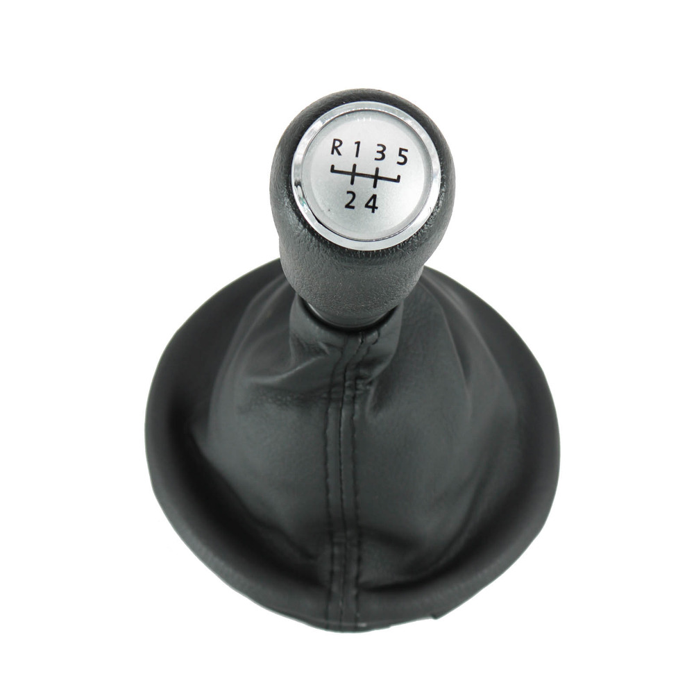 For VW Transporter Multivan Caravelle T5 T6 2003 2004 2005 2006 2007 2008 2009 2010 New 5 Speed Gear Shift Knob With Leather Bo