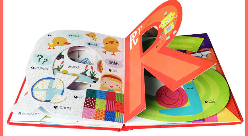 My Awesome Alphabet Book ABC Original English Cardboard Books Baby Kids  Children Learning Educational Word Book Letter Shaped
