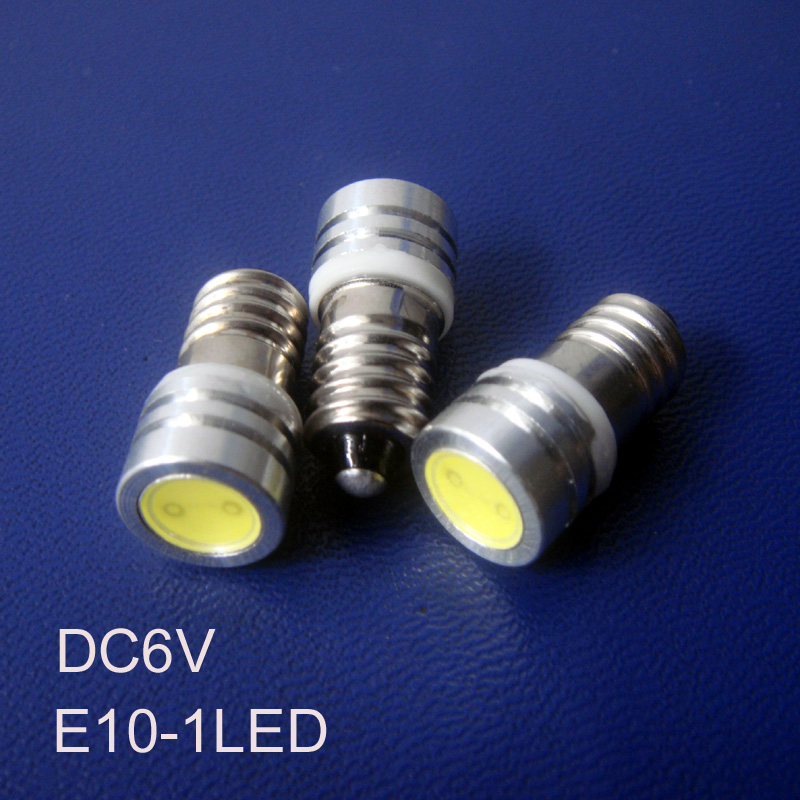 High quality 6V led E10 bulb,6.3v 0.5w E10 led lamp,E10 led Instrument Lights free shipping 10pcs/lot image