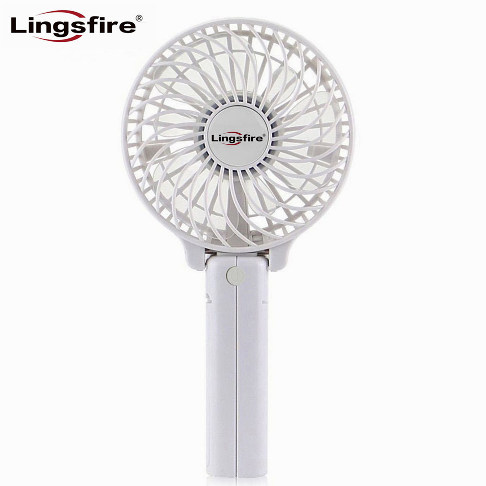 Foldable Handheld Personal Fan Battery Portable Desktop Mini Fan Electric Hand Bar Baby Stroller Fan Rechargeable Battery super mute portable mini fan battery operated air cooling handheld fan small light multicolor electric personal fan ventilator