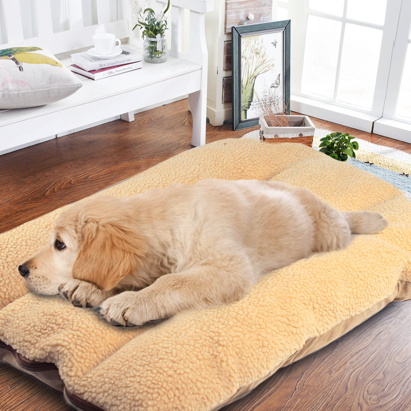 Dog Golden House Sofa Kennel Mat Medium Labrador Bed Warm For Dogs Soft Large Nest Blanket Retriever Puppy Pet Cushion Big 0OPknw8X