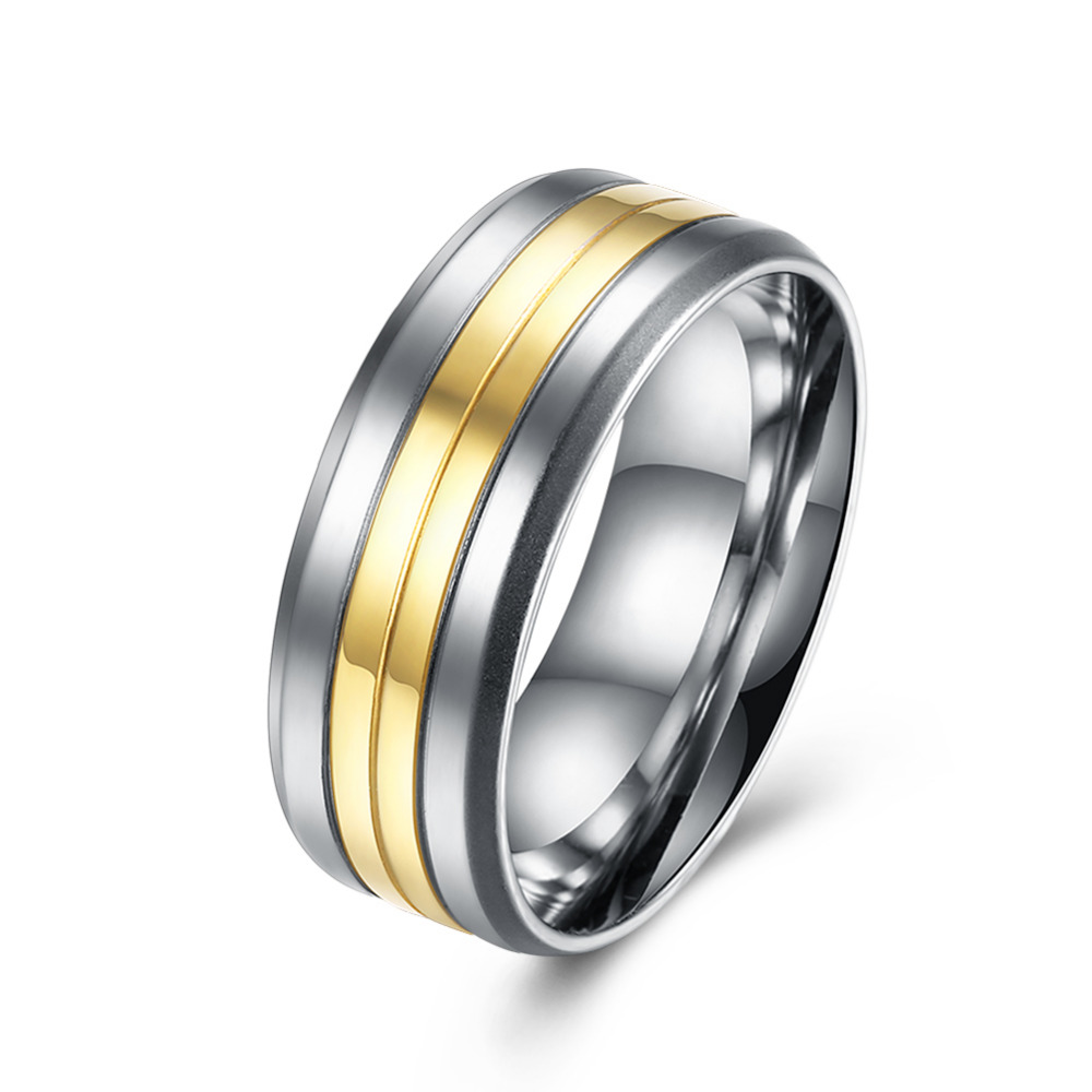 2017 New Arrival White Gold Color Plated Titanium Stainless Steel Rings Male Punk Man High Quality No Fade Jewelry Decorations