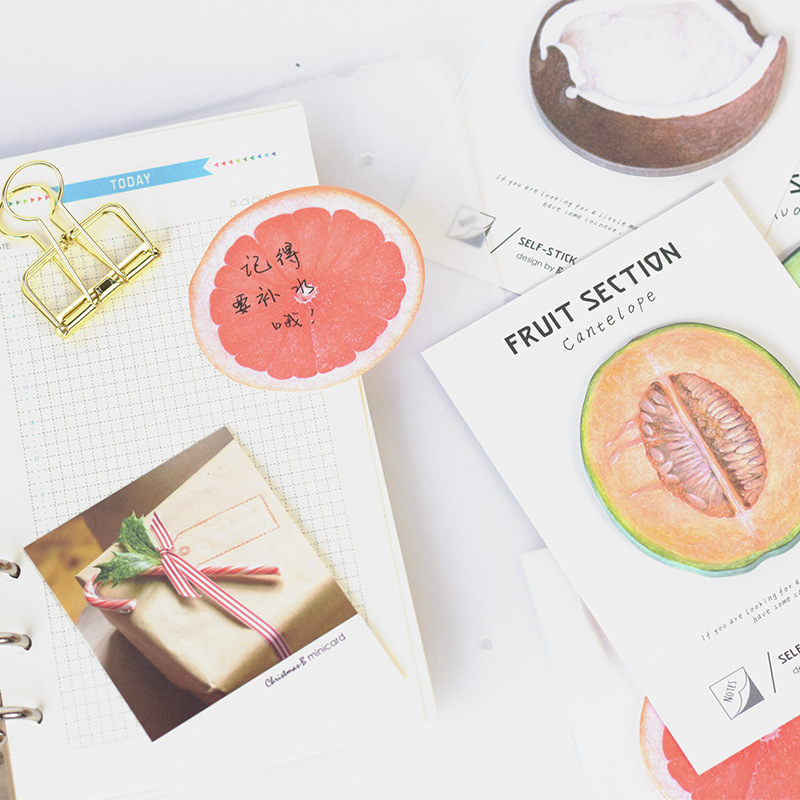 4 pcs/Lot Fruit sticky note 30 sheet memo paper Adhesive post Cantelope Avocado Coconut Stationery Office School supplies F418