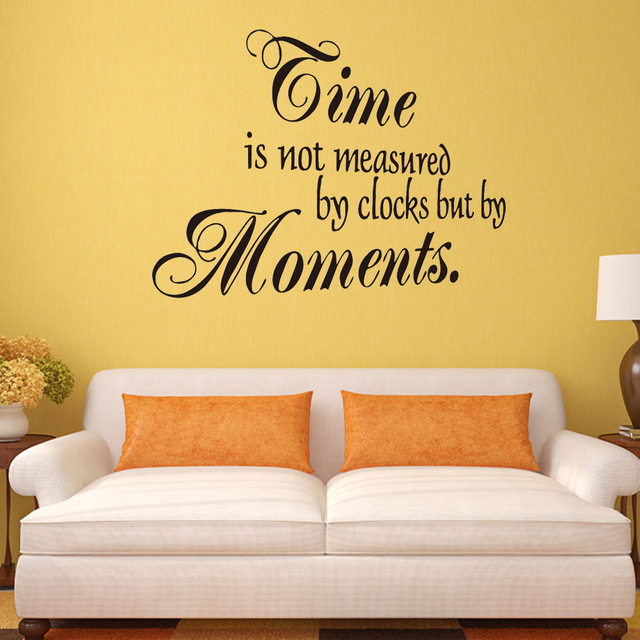 Time is not measured by clock but by Moments Removable Vinyl Wall ...