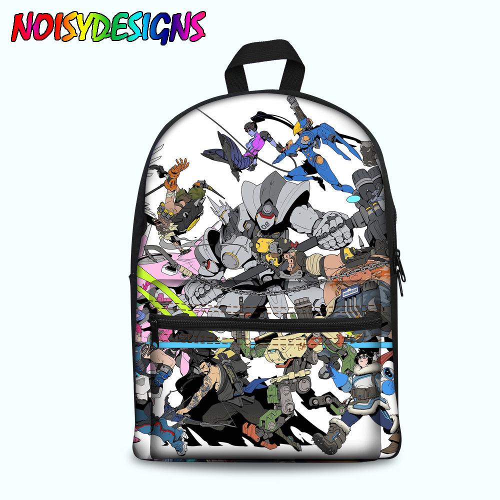 School Bags for Kids Overwatch Print School Backpack for Teenagers Boys Girls Canvas Primary Students School Bag Bag