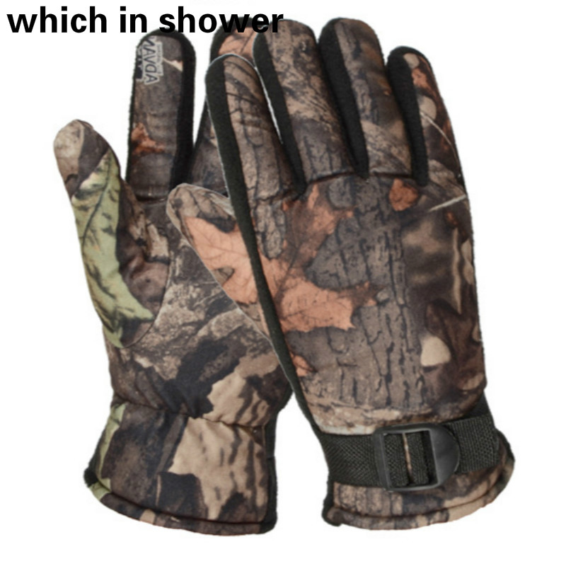 Apparel Accessories Fashion Bionic Tactical Gloves For Men Camouflage Plus Velvet Winter Gloves Outdoor Windproof Warm Camo Riding Gloves Mittens